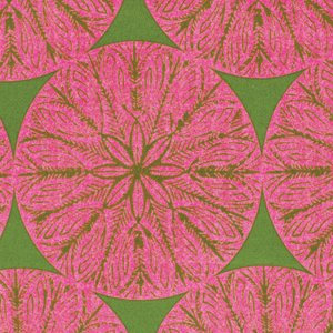Victoria and Albert Garthwaite Fabric - Medallion - Pink
