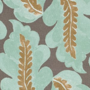 Victoria and Albert Garthwaite Fabric - Leaf - Neutral