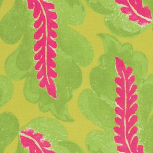 Victoria and Albert Garthwaite Fabric - Leaf - Pink