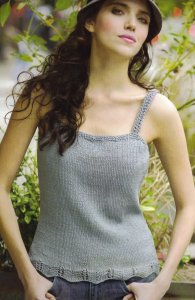 Tahki Cotton Classic Lite French Lace Camisole Kit - Women's Sleeveless