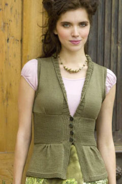 Tahki Cotton Classic Lite Antique Silk Vest Kit - Vests