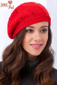 Tahki Stitch Red Kit - Angel Face Beret