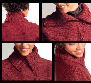 Brown Sheep Lamb's Pride Worsted Becca Cardigan Kit - Women's Cardigans