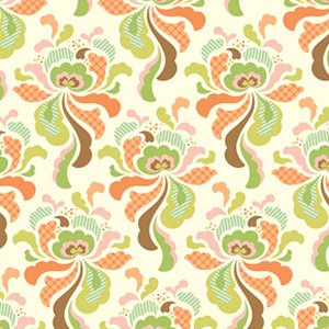 Heather Bailey Freshcut Fabric - Groovy - Orange