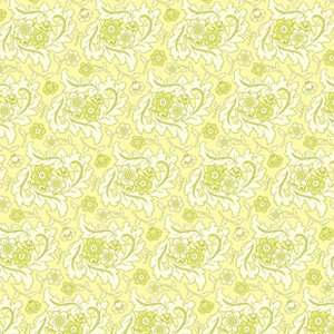 Heather Bailey Freshcut Fabric - Finery - Cream