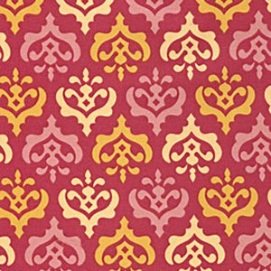 Heather Bailey Freshcut Fabric - Crest - Red