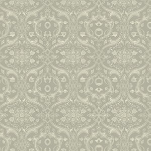Parson Gray Curious Nature Fabric - Dimitri VN - Silver
