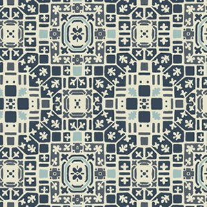 Parson Gray Curious Nature Fabric - French Qtr - Arctic