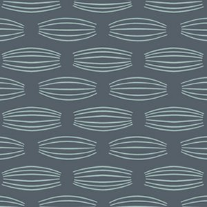 Parson Gray Curious Nature Fabric - Cocoons - Tin