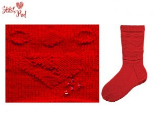 Skacel Johnny's Socks Pattern Patterns - A Heart Full of Love (Stitch Red) Pattern