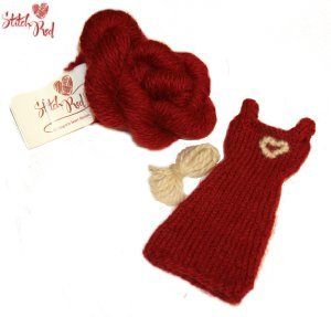 Jimmy Beans Wool Stitch Red - Mini Red Dress Kit - Alpaca Sox