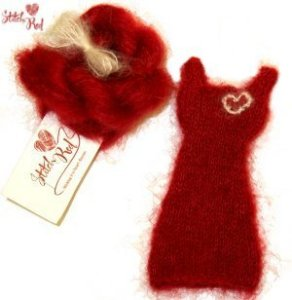 Jimmy Beans Wool Stitch Red - Mini Red Dress Kit - Pirouette