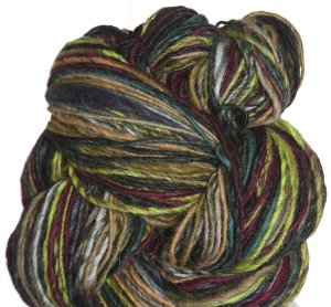 Noro Shiraito Yarn - 01 Black, Lime, Turquoise, Tan (Discontinued)