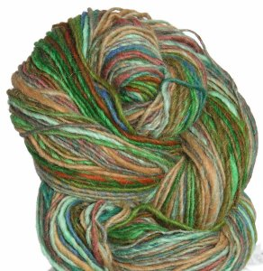 Noro Shiraito Yarn - 04 Green, Tan, Blue, Rust