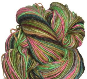 Noro Shiraito Yarn - 05 Lime, Black, Orange, Gold