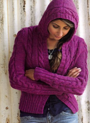 Berroco Blackstone Tweed Central Park Hoodie Kit - Women's Cardigans