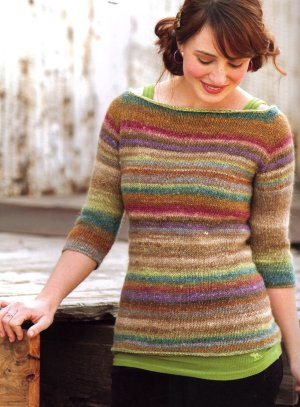 Noro Silk Garden Equinox Raglan Kit - Women's Pullovers