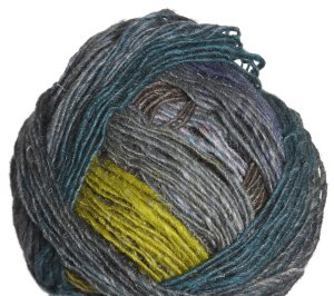 Noro Silk Garden Lite Yarn - 2072 Grey, Turquoise, Yellow