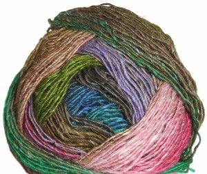 Noro Silk Garden Lite Yarn - 2073 Red, Brown, Green (Discontinued)