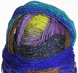 Noro Silk Garden Lite Yarn - 2078 Yellow, Purple, Blue (Discontinued)