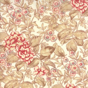 3 Sisters Papillon Fabric - Faded Garden - Ivory (4071 11)