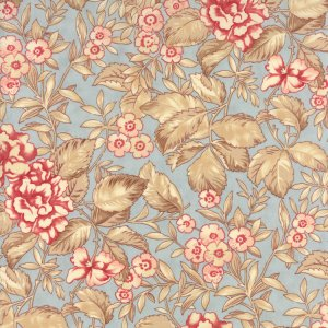 3 Sisters Papillon Fabric - Faded Garden - Aqua (4071 12)