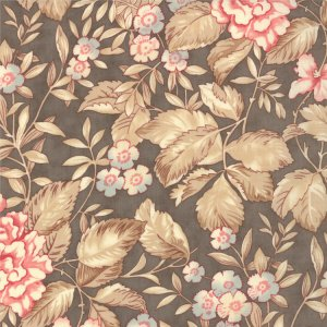 3 Sisters Papillon Fabric - Faded Garden - Stone (4071 15)