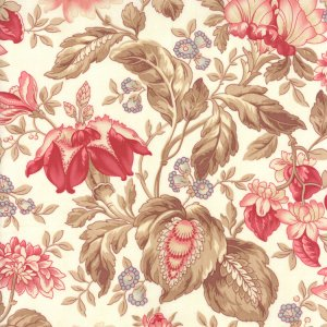 3 Sisters Papillon Fabric - Jacobean Floral - Ivory (4073 11)