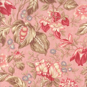 3 Sisters Papillon Fabric - Jacobean Floral - Blush (4073 14)