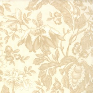3 Sisters Papillon Fabric - Jacobean Floral - Tonal Ivory (4073 21)