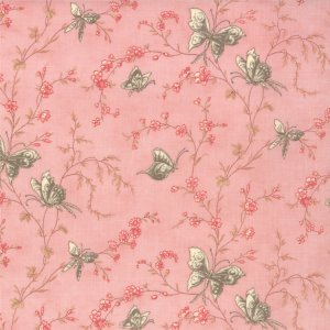 3 Sisters Papillon Fabric - Butterfly Garden - Blush (4075 14)