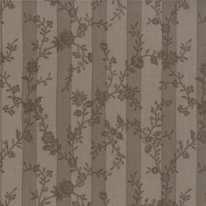 3 Sisters Papillon Fabric - Botanical Stripe - Stone (4076 15)