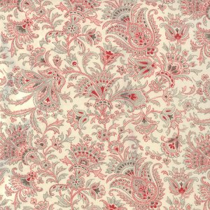 3 Sisters Papillon Fabric - Jacobean - Ivory (4077 11)
