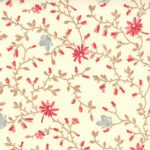 3 Sisters Papillon Fabric - Meandering Ivy - Ivory (4079 11)