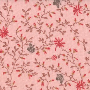 3 Sisters Papillon Fabric - Meandering Ivy - Blush (4079 14)