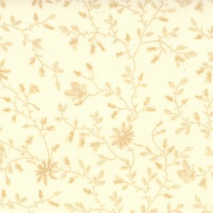 3 Sisters Papillon Fabric - Meandering Ivy - Tonal Ivory (4079 21)