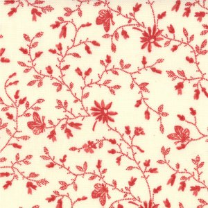 3 Sisters Papillon Fabric - Meandering Ivy - Scarlet (4079 13)
