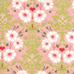 BasicGrey Hello Luscious Fabric - Bouquet - Bubblegum (30281 12)