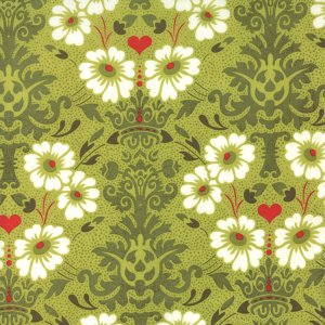 BasicGrey Hello Luscious Fabric - Bouquet - Rosemary (30281 17)