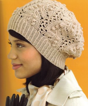 Cascade 220 Sport Bobbles and Lace Slouchy Hat Kit - Hats and Gloves