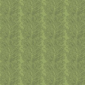 Parson Gray Curious Nature Fabric - Coral Reef - Pines