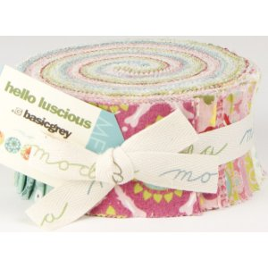 BasicGrey Hello Luscious Precuts Fabric - Jelly Roll (discontinued)