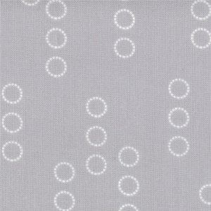 Aneela Hoey A Walk in the Woods Fabric - Circle Stripes - Cloud (18525 13)