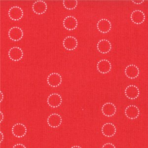 Aneela Hoey A Walk in the Woods Fabric - Circle Stripes - Poppy (18525 14)