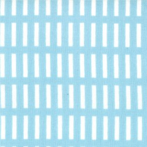 Aneela Hoey A Walk in the Woods Fabric - Dash Stripe - Blue Bell (18526 11)