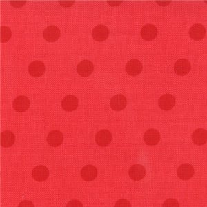 Aneela Hoey A Walk in the Woods Fabric - Simple Dots - Poppy (18527 14)