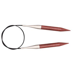 "Knitter's Pride Dreamz Fixed Circular Needles - US 10.75 (7.0mm) - 40"" Burgundy Rose Needles"