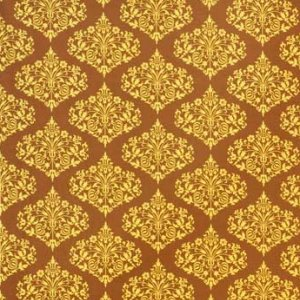 Amy Butler Midwest Modern Fabric - Park Fountains - Brown