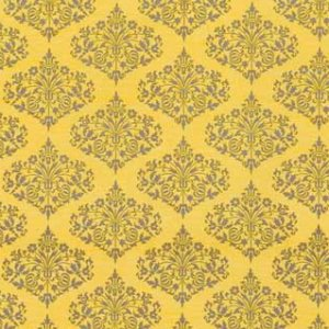 Amy Butler Midwest Modern Fabric - Park Fountains - Mustard