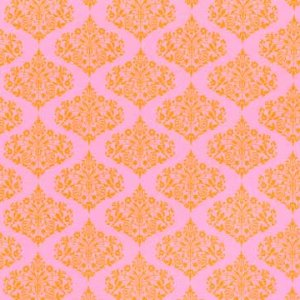 Amy Butler Midwest Modern Fabric - Park Fountains - Pink